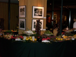 A series of four thirty foot buffets for 600 Guests