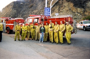 Chrissy with her firemen