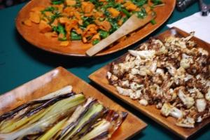 Roasted Leeks, Cauliflower, Rabe and Sweets
