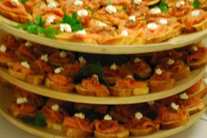 300 Salmon Canapes ready to go