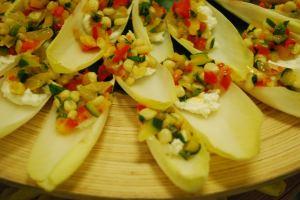 Vegetable Tapenade on Endive Spears