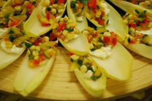 Vegetable Tapenade on Endive Spears